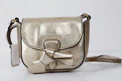 Gorgeous BURBERRY Children Girl Kids Metallic Gold Leather Mini Crossbody Bag