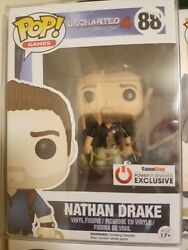 Funko Pop Nathan Drake Uncharted 4 Gamestop Exclusive 88 With Protector