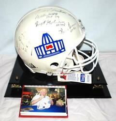 HALL OF FAME PRO FOOTBALL SIGNED AUTOGRAPHED HELMET IN DISPLAY CASE WITH PLAQUE