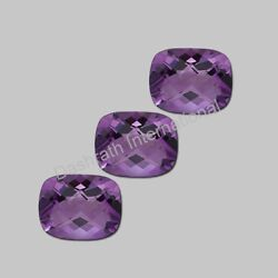 Amethyst Cushion Cut Checker Board 6X8mm To 13X18mm Calibrated Loose Gemstone