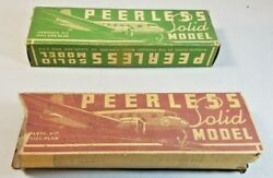 Vintage Peerlass Solid Model Toy Airplanes 56a