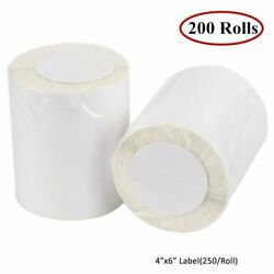 200 Rolls Of 250 4x6 Direct Thermal Shipping Labels - Zebra 2844 Zp450 Ups Fedex