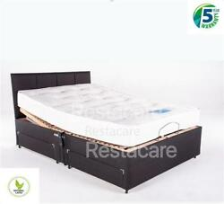 4 Draw Bern Latex Combi Small Double 4ft Adjustable Electric Bed Free Install