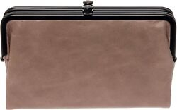 Hobo Womens Glory Vintage Leather Clutch Wallet (Ash)