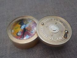 Extremely Rare Walt Disney Scrooge Mcduck Time Is Money Brass Vault Coin Clock