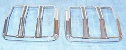 1965 1966 Mustang Fastback Cp Convertible Gt Shelby Orig Tail Light Trim Bezels