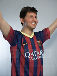 Life Size Lionel Messi Soccer Movie Wax Statue Realistic Prop Display Figure 1:1