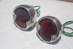 1932 Ford Duolamp Tail Light Assemblies License Lamp 6 Volt Right Left Hand