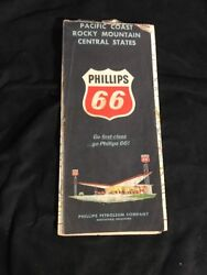 1964 Phillips 66 Road Map Central And Western United States Route 66 Pacific Coast