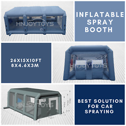 Portable Car Spray Booth Inflatable Spray Paint Tent Mobile Cabin Paint Station