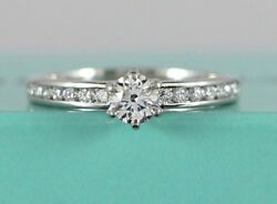 5250 And Co Platinum 0.38 Round Diamond F Vs2 Channel Engagement Ring 7