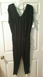 NWT Jessica Simpson Black M Thoreau Jumpsuit