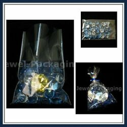 10x Clear Cello Film Packing Storage Bag Cellophane Sleeves 13.7