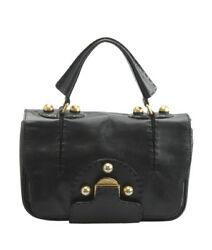 Fendi Secret Code Black Leather Satchel