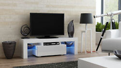 Milano 130 - White Small Tv Stand / Modern Tv Cabinet / Tv Console Table