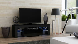 Milano 130 Width Black Small Tv Stand / Tv Console Table / Console Tv Stand