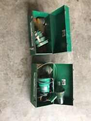 2 Greenlee 590, 1 691, And 2 591 Portable Fish Tape Blower System
