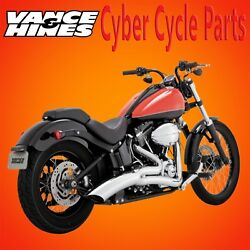 Vance & Hines Big Radius Chrome Exhaust for 1986-2017 Softail Models
