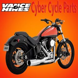 Vance & Hines Chrome Hi-Output Short Exhaust for 2000-2017 Softail Models