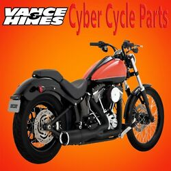 Vance & Hines Black Hi-Output Short Exhaust for 2000-2017 Softail Models
