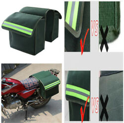 2X Motorcycle Saddle Bags Luggage Pannier Durable Thick Canvas Helmet Tank Bags