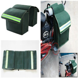 New Motorcycle Saddle Bags Luggage Pannier Unique Green Canvas Helmet Tank Bags