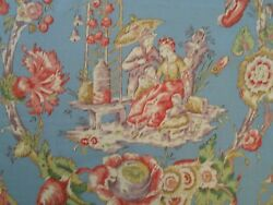 Marvic Textiles Cathay Toile Fabric 9.25 Yards Retail 1470 Chinoiserie