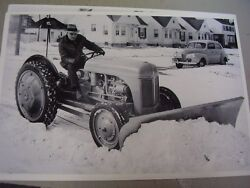 Ford Tractor N Plowing Snow  12 X 18  Photo  Picture