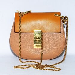 Chloé Women's Brown Drew Small Leather Cross-Body Bag Chain Handbag Messenger