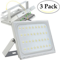 3X 200 Watt Slim High Power LED Flood Light Cool White Indoor Outdoor Fixtures