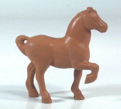 Vintage Rubber Toy Draft Farm Horse Figurine 3.5 For Pull Cart Or Wagon