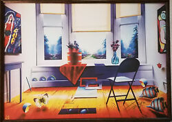 Ferjo On Canvas Hand Signed Giclee Titled Windowsill Magic With Coa
