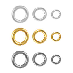 Sterling Silver Open Jump Rings For Jewellery Making Different Platings
