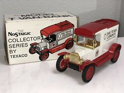 1984 Texaco 1913 Ford Model-t Bank 1 In Series Ertl With Box 2128