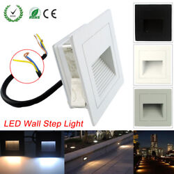 1/10/20x 3w Led Recessed Wall Step Light Stair Lamp Warm /cool White Ac85-265v