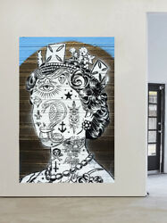 A0 A1 A2 A3 A4 Poster Print For Glass Frame Art Style Queen Tattoo Wall