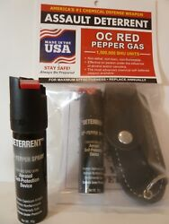 DETERRENT Pepper Spray SAFETY SECURITY DEFENSE USA MADE RAPE PROTECTOR COLLEGE