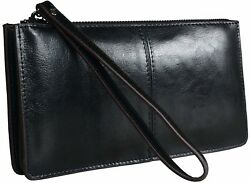 On Clearance Big Sale Heshe Womens Leather Long Wallet Zippered Ladies Clutch Mo