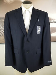 Nautica Nwt Suit Separates Men 2 Button Jacket 38s Small Navy Wool Retails 280