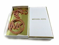Michael Kors Bag Charm Keyring MK Design 35H0TKCK Rose Gold Ladies NEW #0022