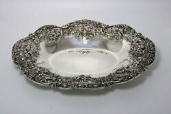 S. Kirk And Son Repousse Sterling Silver Tray Heavy Raised Pattern