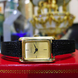 RARE Vintage 1960's GUCCI 18k Yellow Gold w Solid Gold Fancy Buckle Ladies Watch