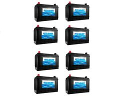 Group 31 Marine Battery Marine Deep Cycle Battery Replaces D31M - Pack of 8