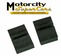 1967-72 Oldsmobile 442 W30 Chrome Bumper Gas Door Rubber Rectangle Bumpers Stop