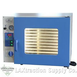 1.9 Cuft Stainless Vacuum Oven - 10 Shelves, Led Lights, Extraction Purging, Hfs