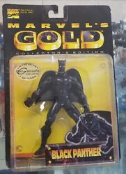 Marvel's Gold collectors edition black panther toy biz