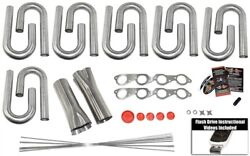 Big Block Chevy Custom Header Build Kit- 2 1/4 Primary 3 Collector 304 Ss