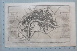 1739 London Maitland Map Plan Of London Fortified By Parliament 1642 Forts