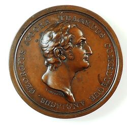 1805 Great Britain Theater George Cooke Actor By Thomas Webb Bronze 54mm Bhm 570