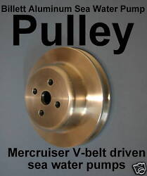 Billet Pulley Sea Water Pump Mercruiser Bravo Inboard 52822 5-1/2 Od Chevy V8